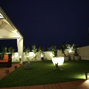 Daga Sapphire Gazebo Garden Night View